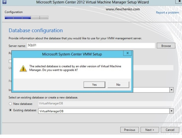vmm 2012-upgrading-to sp1-8
