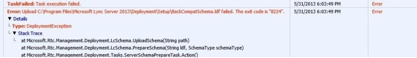 schema error