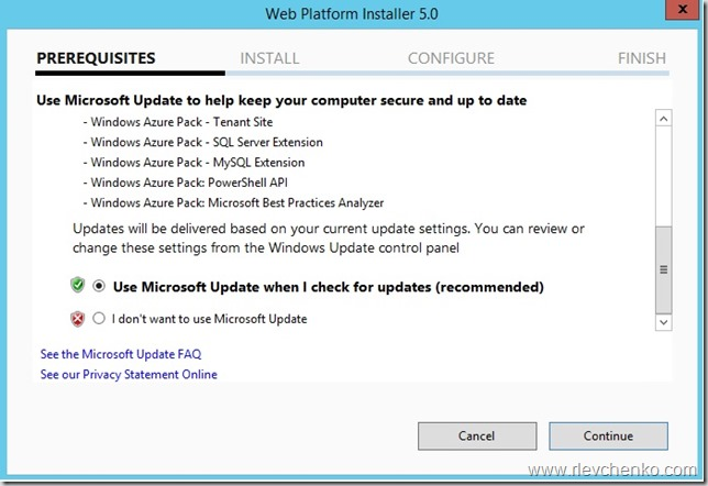 Windows Azure Pack Installation