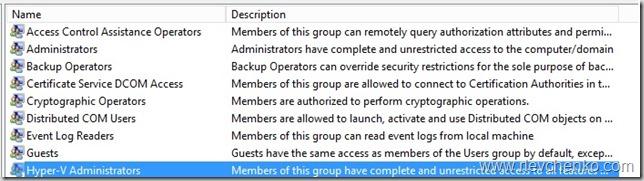 TOTD: Non-administrators access in Hyper-V, AzMan, FAQ – UseIT