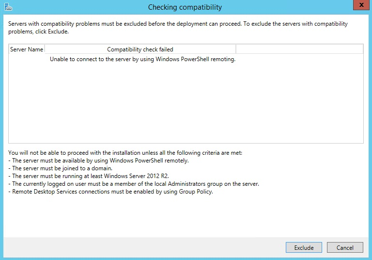 RDS: Unable to connect to the server by using Windows