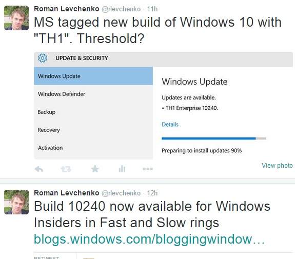 Windows 10 useit roman levchenko httpblogswindowsbloggingwindows20150715build 10240 now available for windows insiders in fast and slow rings ccuart Choice Image