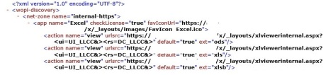 office web apps discovery xml