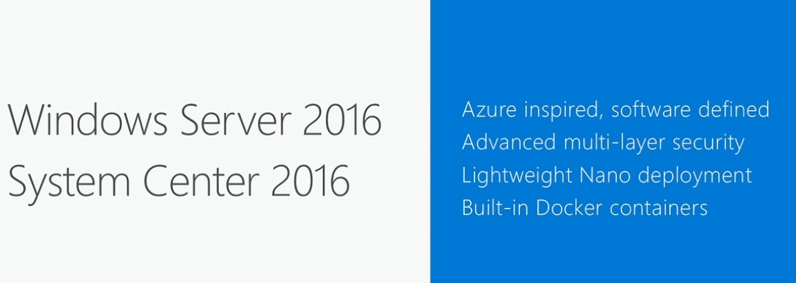 Windows Server 2016 and System Center 2016 Ignite Announcement