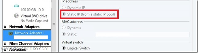 vmm dynamic to static ip pool result