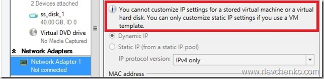 vmm static ip pool greyed out