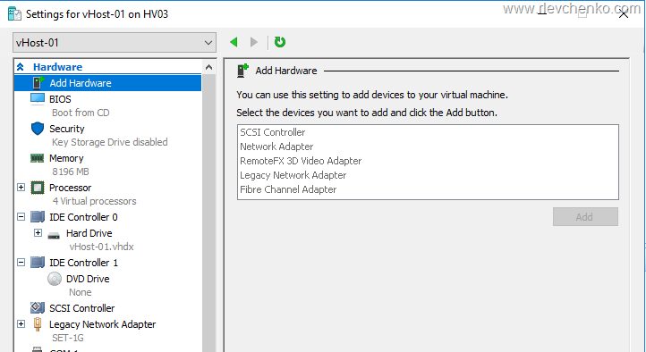 How to customize a VMware ESXi image and install it in a Hyper-V VM