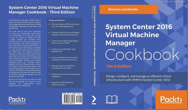 VMM 2016 Cookbook